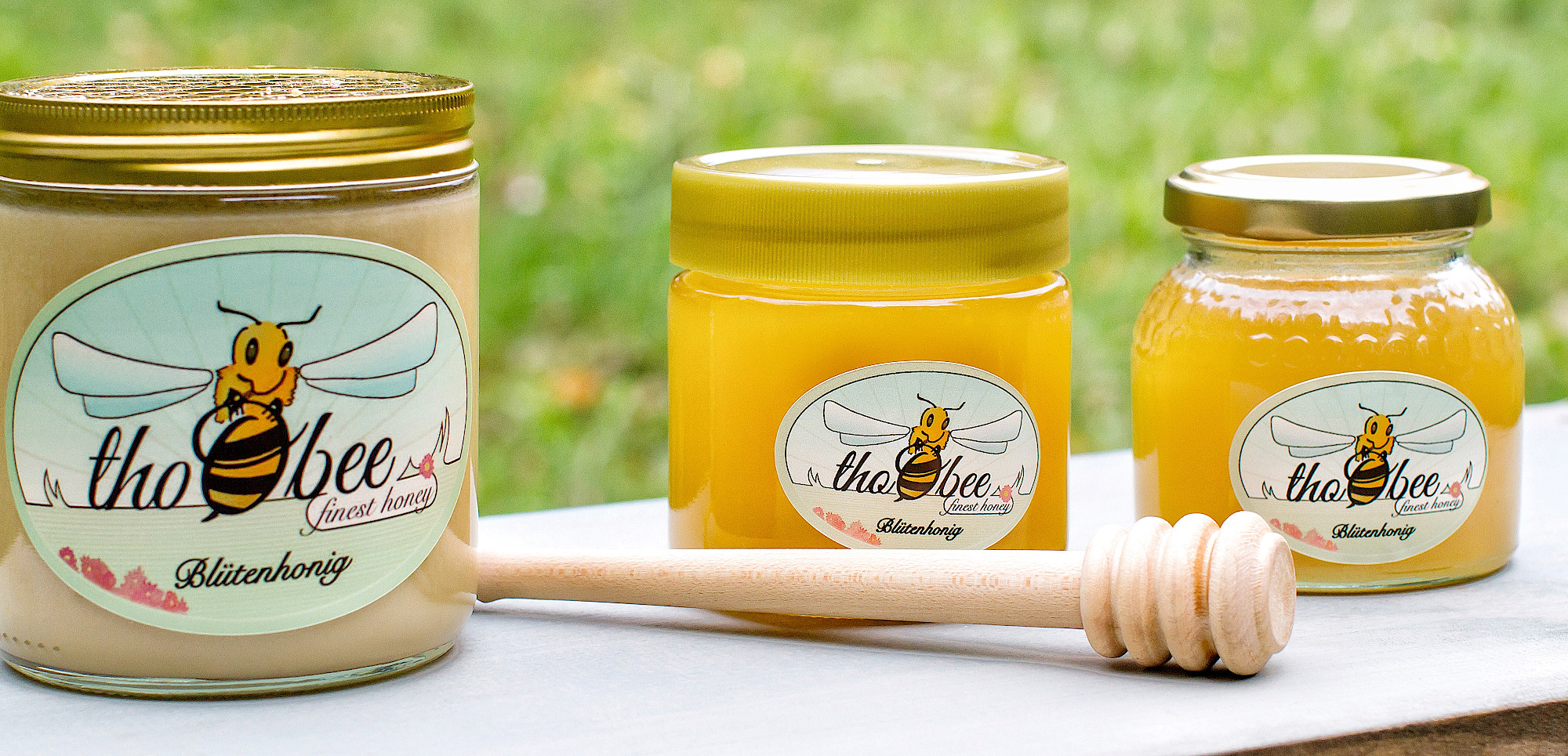 Honig-Auswahl der Imkerei thoobee